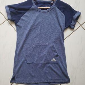 Adidas climalite sweatshirt pocket shirt blue